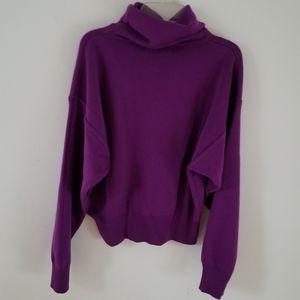 VTG Obermeyer Ski-T Purple Wool Blend Sweater